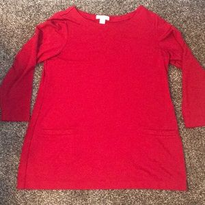 Red tunic with pockets